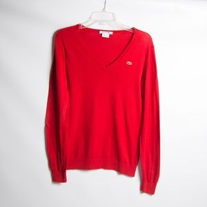 LACOSTE Red Sweater
